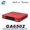 GA6502 - mini itx media case red HTPC Case