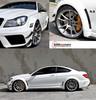 For C63 AM black series body kit carbon fiber Mercedes Benz W204 C-class wide style