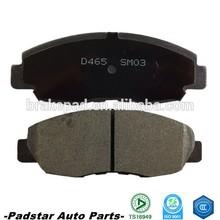 Auto spare parts for Japan car high quality semi-metallic & ceramic brake pads D465