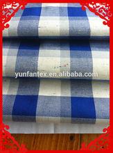 2014 fashion latest new Italy design pattern 100%cotton cvc t/c Satin dyed yarn check shirt fabrics