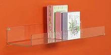 wholesale clear acrylic wall mounted shelf / book shelf / acrylic display shelf