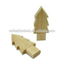 Hot sale cartoon wood usb disk , lovely wooden tree usb flash drive