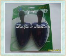 pvc box packed cedar shoe trees wholesale/pu flocking shoe last/shoe stretcher