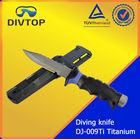 underwater scuba diving titanium hunting knife