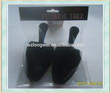 opp bag packed paper shoe tree wholesale/pu flocking shoe stretcher/foam shoe last