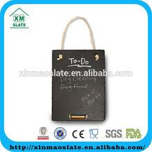 [factory direct] 45X30cm Natural Edge Hanging Laser Design Slate Memo Board Item SJSB-4530RG2AYJ