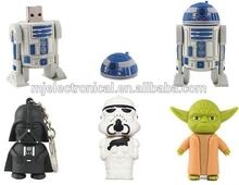 Cute pen drive cartoon Star Wars 4gb/8gb/16gb/32gb bulk war star usb flash drive flash memory stick pendrive gift