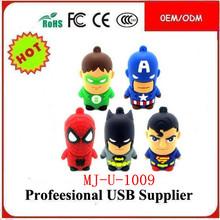Newest Cute Super Hero USB Flash Drive 64GB 32GB 16GB 8GB 128MB U Disk USB 2.0 Flash Memory Stick Pen/Thumbs Drive