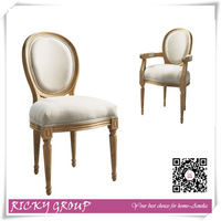 Linen oak reproduction dining chairs