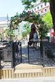 Gyd-15g1224 artesanato moradias de luxo de pedestres portão de ferro