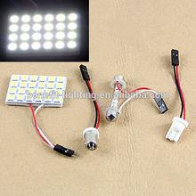 Super bright PCB 24SMD 5050 car panel light, Car Roof 12v 24v Led Bulb ,Auto Bulb 12v/24v,