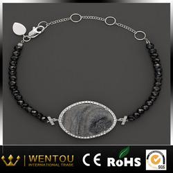 2014 New Fashion high quality nature stone crystal druzy bracelet