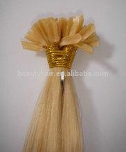 Nail Hair Extension, U-tip Hair Extension, Brazilian Virgin Hair Fusion Glue Hair