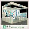 Elegant wooden cosmetic mall kiosk showcase shop furniture/design