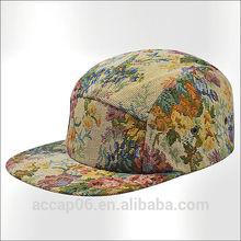custom 5 panel flat peak hats