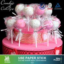 Candy's cake pops paper stick,wedding celebration sweet lollipop stick