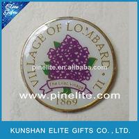 hot selling imitation hard enamel custom metal pin badges,badges for clothes
