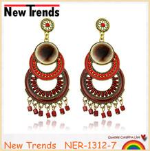 Dark epoxy stud earrings jewelry fashionable design