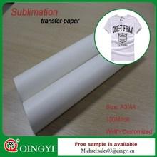 Digital printing sublimation heat transfer paper for Apparel