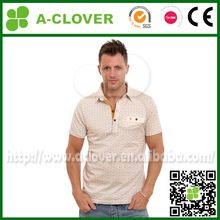 Wholesale custom logo fashion Collared t shirt with pocket