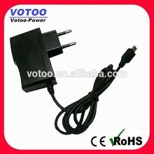 5v 2a usb power adapter, EU, UK, US all AC plugs with micro/mini USB