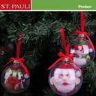 2014 unique clear plastic ball christmas ornament