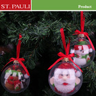 2014 low price plastic christmas ball ornament clear