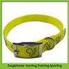 TPU bone printed reflective dog collar