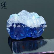 Aqua blue raw gemstone rough uncut cz diamond material