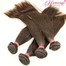 Homeage heat shining natural Brazilian silky straight wave lady rainbow hair