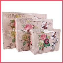 2014 new design flower paper gift bag wholesale