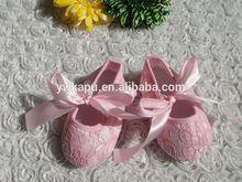bebé precioso zapato de cordones de zapatos de bebé para la niña