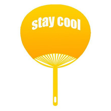 good quality best wholesale 5 fold plastic fan with handle