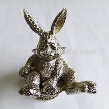 QF3202 Hot sale alloy animal trinket box/animal golden figure/alloy animal gifts
