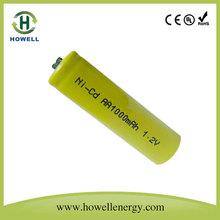 Aa 1.2v 100 mah batterie al nichel cadmio prezzo