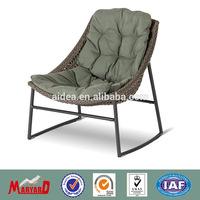 2014 modern design waterproof patio peacock chair rattan