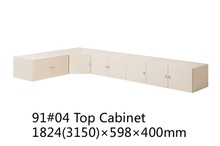 Top cabinet hanging style storage on bedroom wardrobe/cabinet /closet white color
