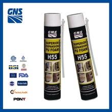 polyurethane foam sealant gun foam rubber 750ml expended