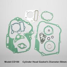 motorcycle cylinder engine overhaul gasket kit for CD100 ,