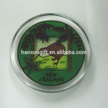 Funny Round Shape Clear Acrylic Fridge Magnet