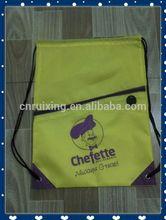 2014 printable custom logo long shoulder school bag