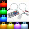 New product 2x dc 12v car rgb halo rings kit controller 40mm