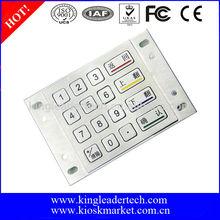 Panel mount 16keys metal access control keypad,vandal proof