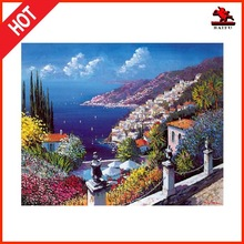 High quality modern handmade canvas island house seascape Oil Painting