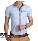 2014 High Quality Cotton Linen ,Mens Short Sleeve Shirt, ,Fashion Style,Slim Fitman camisa garment