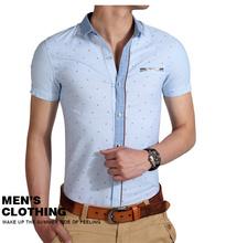 2014 de alta calidad del algodón de lino, hombre camisa de manga corta,, estilo de la moda, slim fitman camisa de prendas de vestir