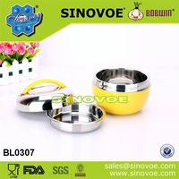 Hot Sales Colorful Food Stainless Steel Food Carrier Office apple shape containers
