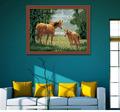 diyดิจิตอม้าป่าภาพวาดสีน้ำมันสำหรับการตกแต่งและของขวัญ
