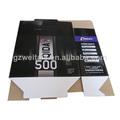 China fabricantes criativo design de moda eletrônico caixa de papelão ondulado especificação