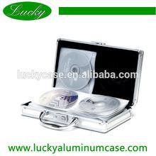 portable deluxe silver cd dvd case for 40cd dvd